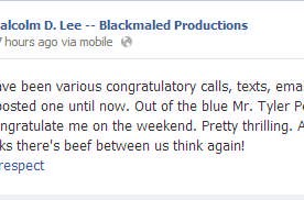 Tyler Perry Congratulates Malcolm D. Lee on Success of #TheBestManHoliday